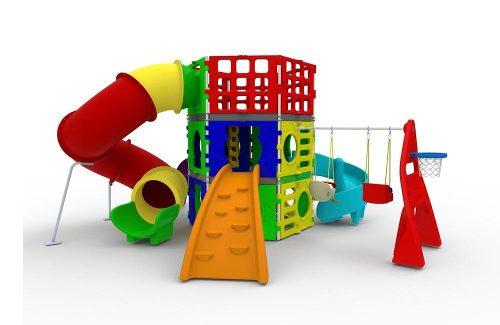 brinquedos no playground